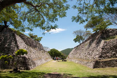 Ball game field. Xochicalco Stock Images