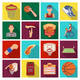 Ball, game, sport, fitness and other icons of basketball. Basketball set collection icons in flat style vector symbol Stock Photo