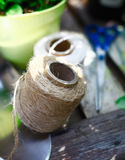 Ball of garden twine Royalty Free Stock Photos