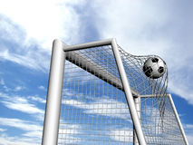 Ball in the gate Royalty Free Stock Photography