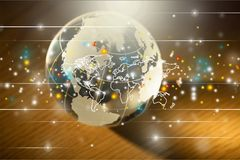 Glass globe ball on background Royalty Free Stock Photography