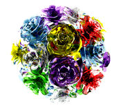 Ball of glass roses Stock Image
