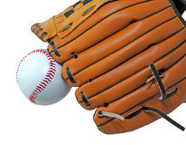 Ball and glove Stock Images
