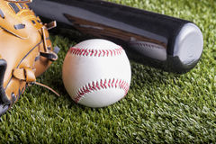 Ball and glove Royalty Free Stock Image