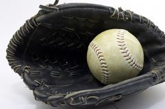 Ball in glove Royalty Free Stock Photography
