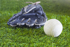 Ball and glove Stock Image