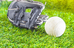 Ball and glove Royalty Free Stock Photo