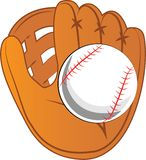 Ball & Glove Royalty Free Stock Photo