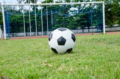 Ball and the goal Royalty Free Stock Photography