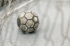 Ball in a goal Royalty Free Stock Image