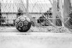 Ball in a goal Stock Photography