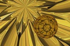 Ball of gold. Royalty Free Stock Photos