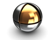 Ball with golden core Royalty Free Stock Photography