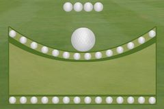 4 Ball Golf Fairway Green Golf Balls Open Text Area Royalty Free Stock Photo