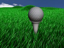 Ball of golf on lawn Royalty Free Stock Photo