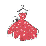 Ball gown hand drawing on a hanger Royalty Free Stock Photography