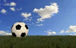Ball on grass field Stock Photography