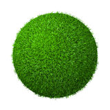 Ball of Grass. Ball of Green Grass  on White Background 3D Illustration Stock Photos