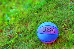 Ball on the grass Stock Photo