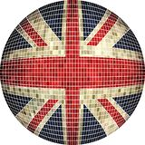 Ball with Great Britain flag. Illustration, Sphere United Kingdom flag vector, Abstract Grunge Mosaic flag of UK in circle vector illustration