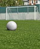 Ball on the green field Royalty Free Stock Photography