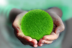 Ball from green grass Royalty Free Stock Photo