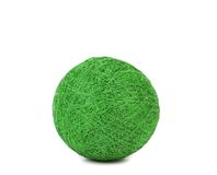 Ball of green thread. Royalty Free Stock Images