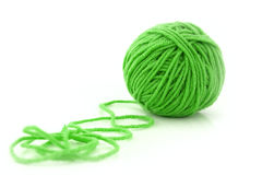 Ball of green threads Stock Photos