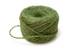 Ball of green twine Stock Photos