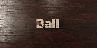 Ball - grungy wooden headline on Maple  - 3D rendered royalty free stock image Stock Photography