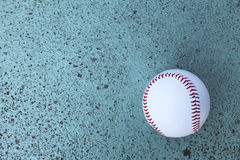 Ball that had fallen to the baseball field Stock Image