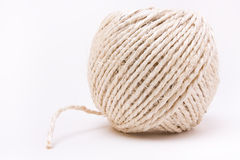 Ball of hairy sisal string Royalty Free Stock Photos