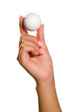 Ball on hand stock photos
