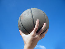 Ball in hand royalty free stock images