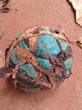 Ball. This is a hand made football ball made of banana fibers and polythene bags Royalty Free Stock Images