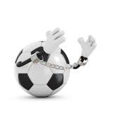 Ball in handcuffs Stock Photo
