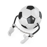 Ball in handcuffs Royalty Free Stock Photos