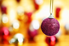 Ball Hanging Christmas decoration Stock Photography