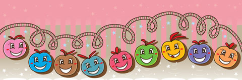 Ball happy banner Stock Images