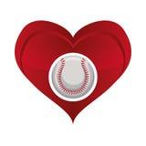 Ball heart baseball sport design Stock Photography