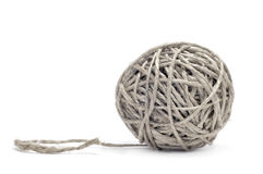 Ball of hemp twine Royalty Free Stock Images