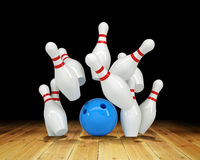 Ball hitting strike Royalty Free Stock Images
