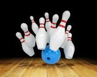 Ball hitting strike Royalty Free Stock Image