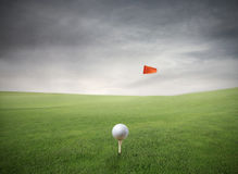 Ball in the hole Royalty Free Stock Images