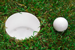 Ball and hole! Royalty Free Stock Image