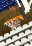 Ball in hoop Royalty Free Stock Photo