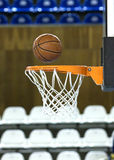 Ball in hoop royalty free stock photos