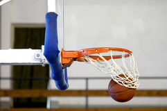 Ball in the hoop Stock Photo