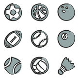 Ball Icons Freehand 2 Color. This image is a illustration and can be scaled to any size without loss of resolution Royalty Free Illustration