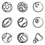 Ball Icons Freehand. This image is a illustration and can be scaled to any size without loss of resolution Royalty Free Illustration